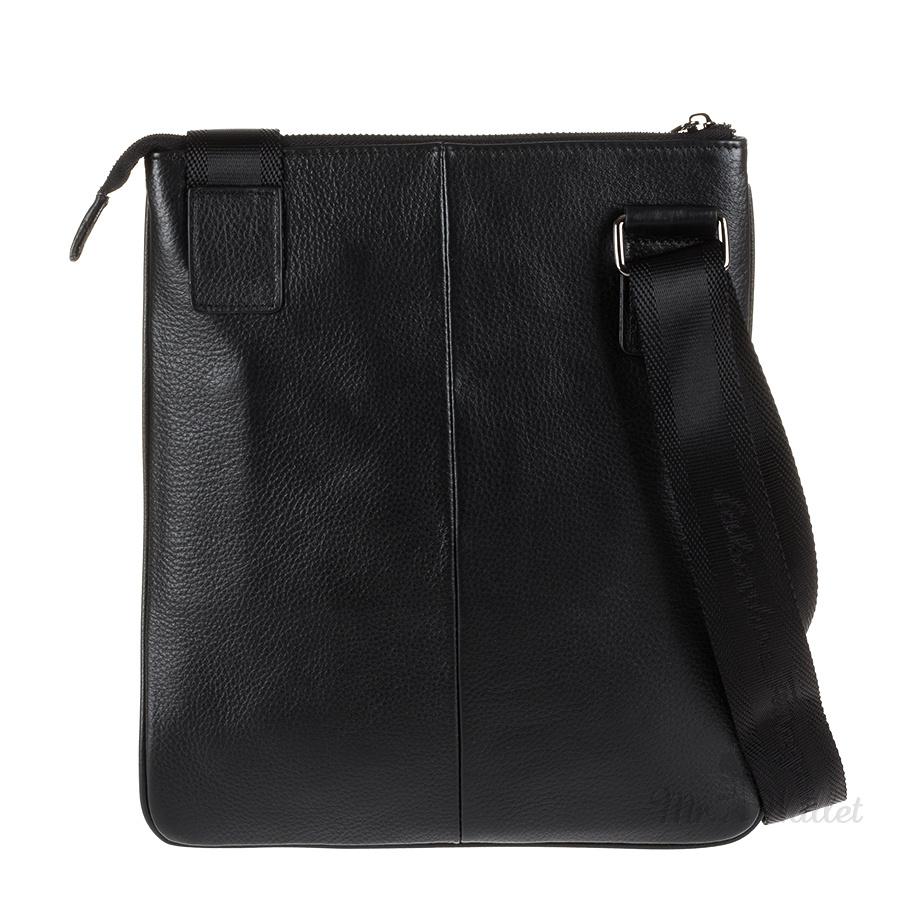 75ce715349aa ᐉ Сумка Salvatore Ferragamo 5872-3 кожаная черная для планшета ...