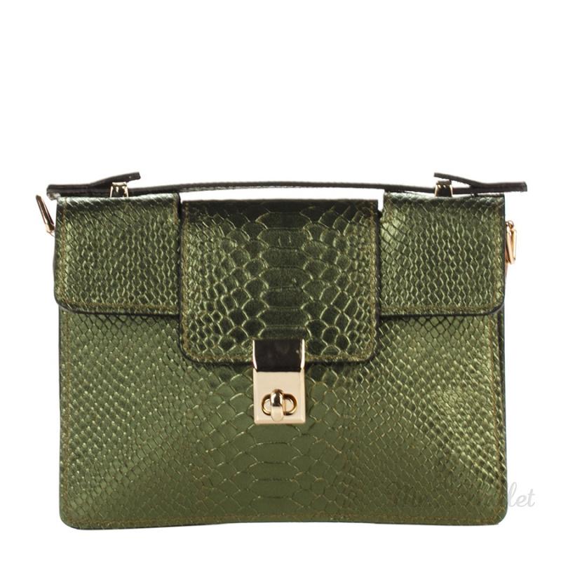 dcf241375130 ᐉ Клатч Italian bags 1606_green кожаный зеленый