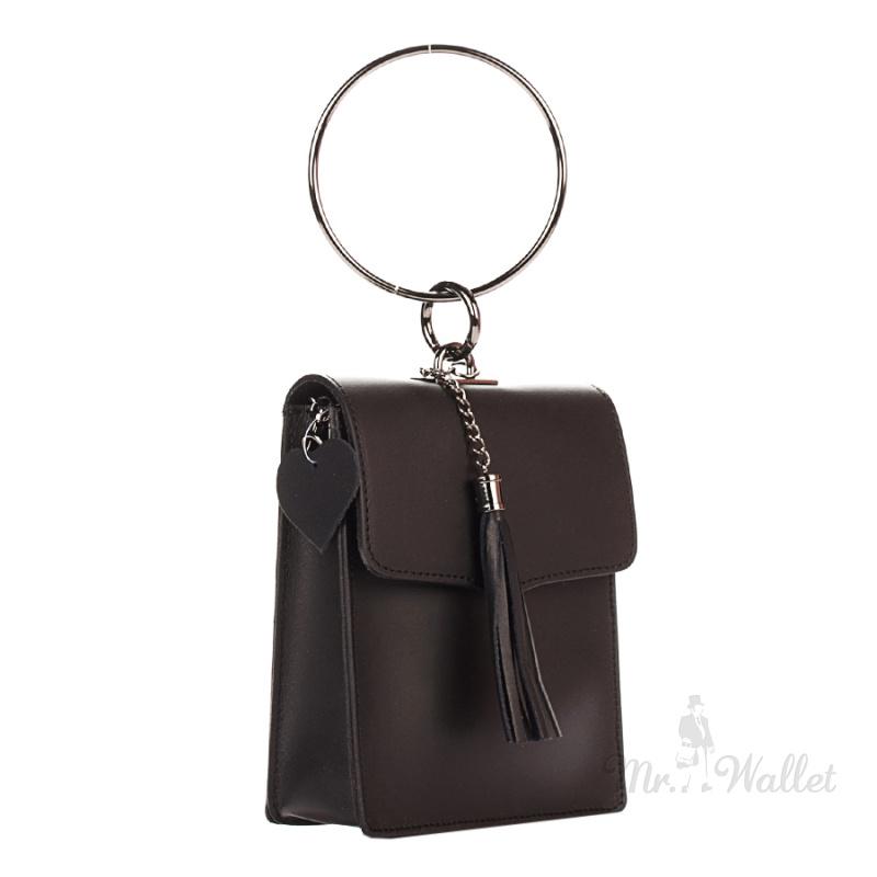 c39021ec7ea9 ᐉ Сумка-клатч Italian bags 1624_black кожаная черная женская купить ...