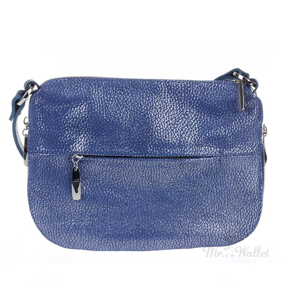 7e9bf103d9ed ᐉ Сумка Assa 1146-5 кожаная синяя перламутровая женская купить в ...
