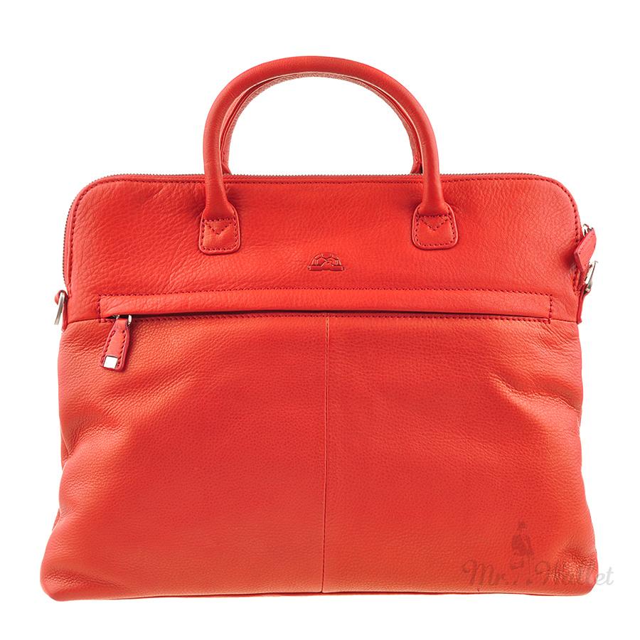 d90c775e9aa0 Сумка Tony Perotti Contatto 9198G rosso кожаная красная для ноутбука женская