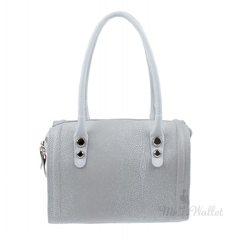 a7aabcde1478 ᐉ Кожаная сумка женская белая под ската Diamond 1264-101 купить в ...