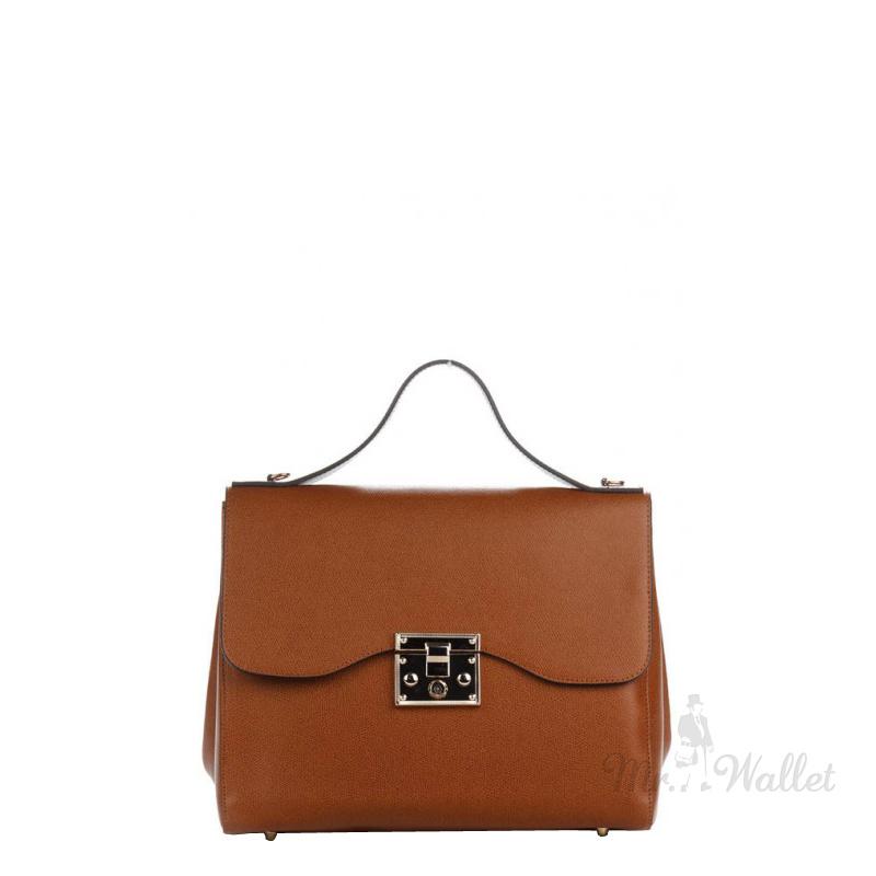 2c0b1a36abab ᐉ Сумка Italian bags 8456_cuoio кожаная рыжая женская купить в ...