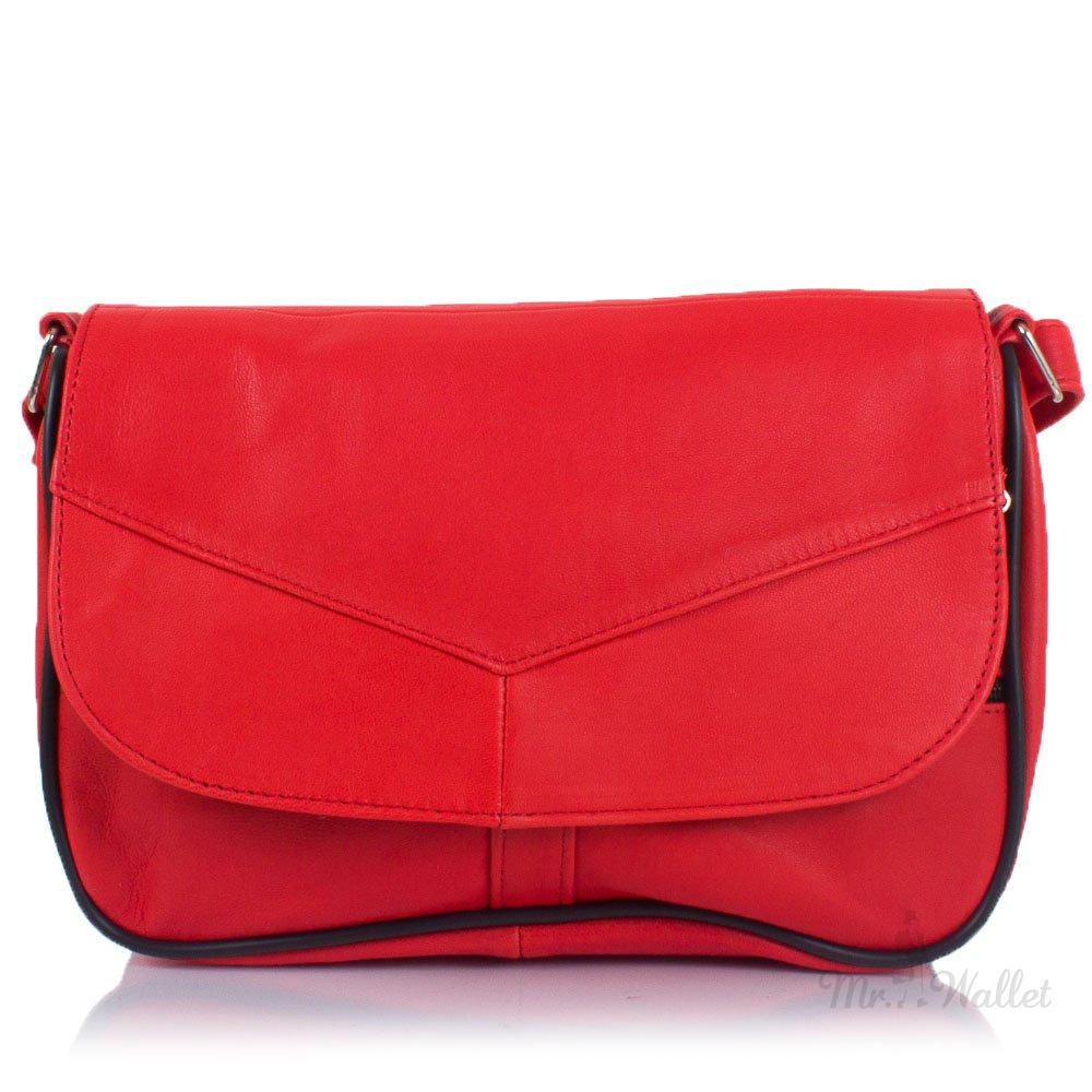 84de98bb9c37 Маленькая женская сумка кросс-боди Yunona 2409-1 кожаная коралловая