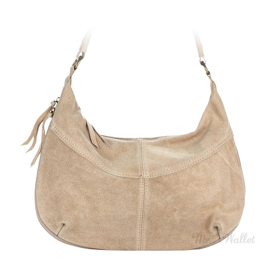 a0266efc64f1 ᐉ Сумка Italian bags 8223_beige замшевая бежевая женская купить в ...