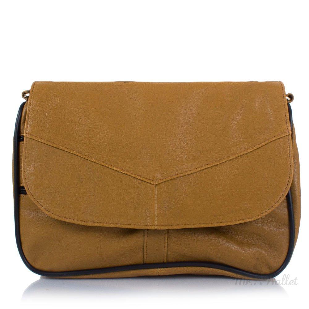 2ed249166b5d ᐉ Маленькая женская сумка кросс-боди Yunona 2409-24 кожаная цвет ...