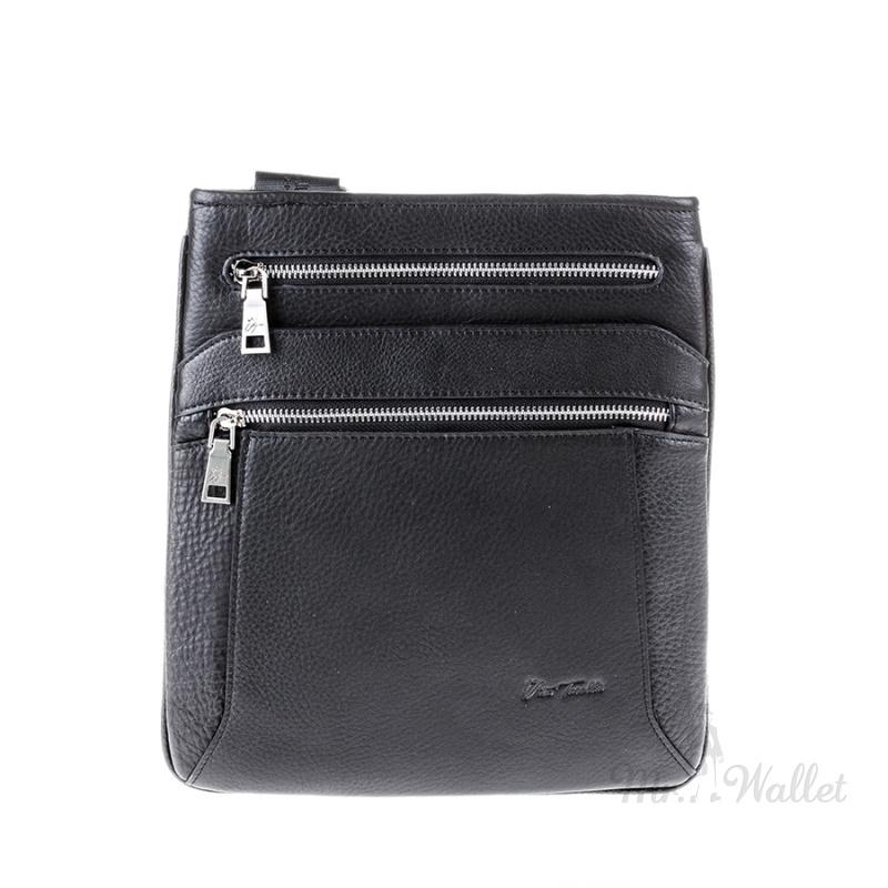 e5f0eb781cf1 ᐉ Мужская сумка Vito Torelli 89181-1 кожаная черная купить в Киеве ...