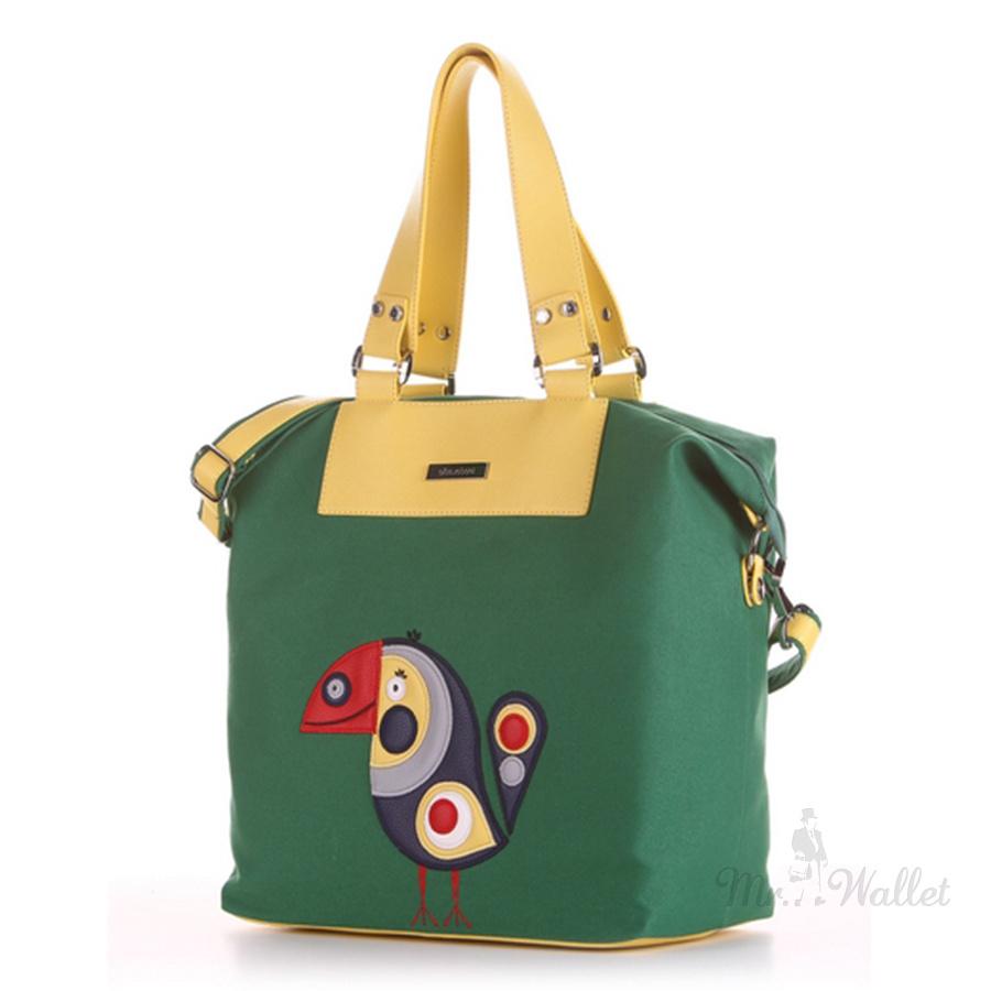 07a0e43e47ae ᐉ Сумка женская Alba Soboni 190053 зеленая с абстрактным орнаментом ...