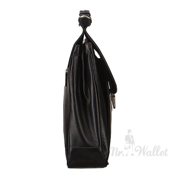 e460a2c07b6f ᐉ Кожаный портфель мужской черный Blamont Bn017A купить в Киеве ...