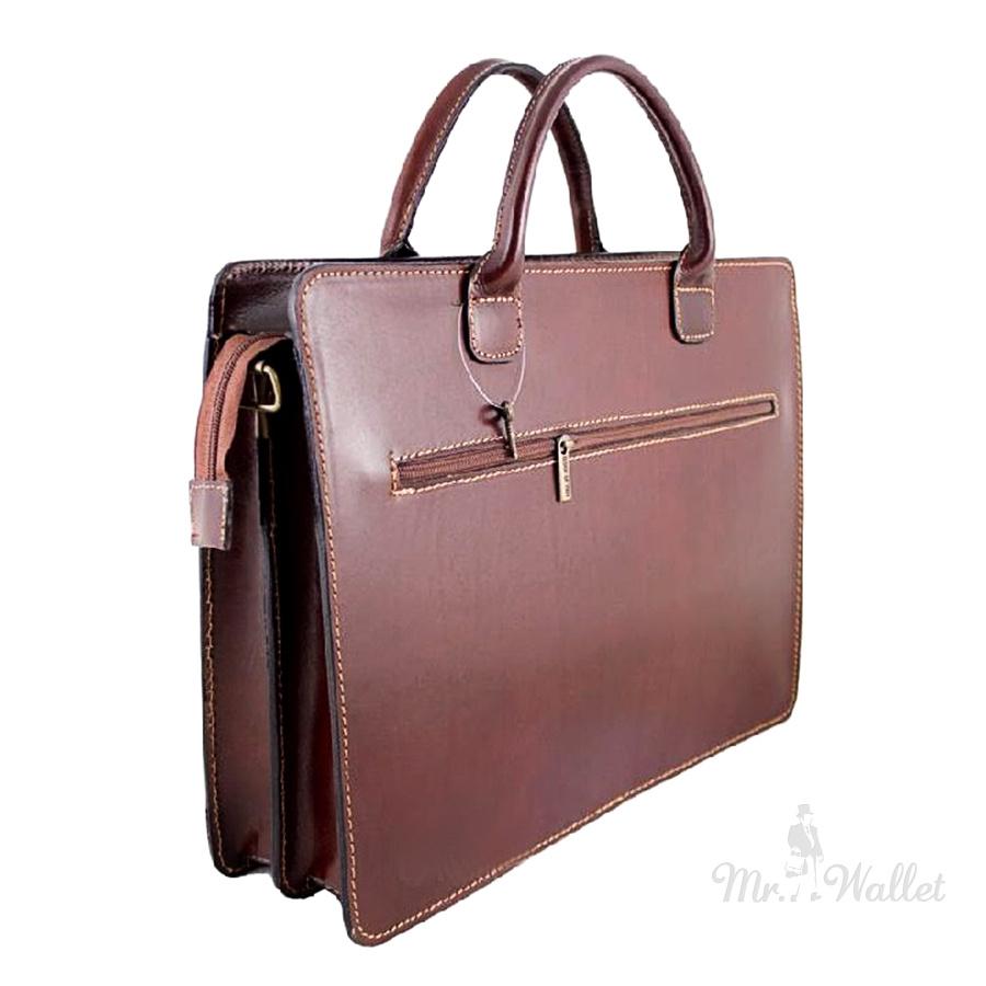 d8657f854ca7 ᐉ Сумка-портфель Bottega Carele BC802 3 кожаная коричневая унисекс ...