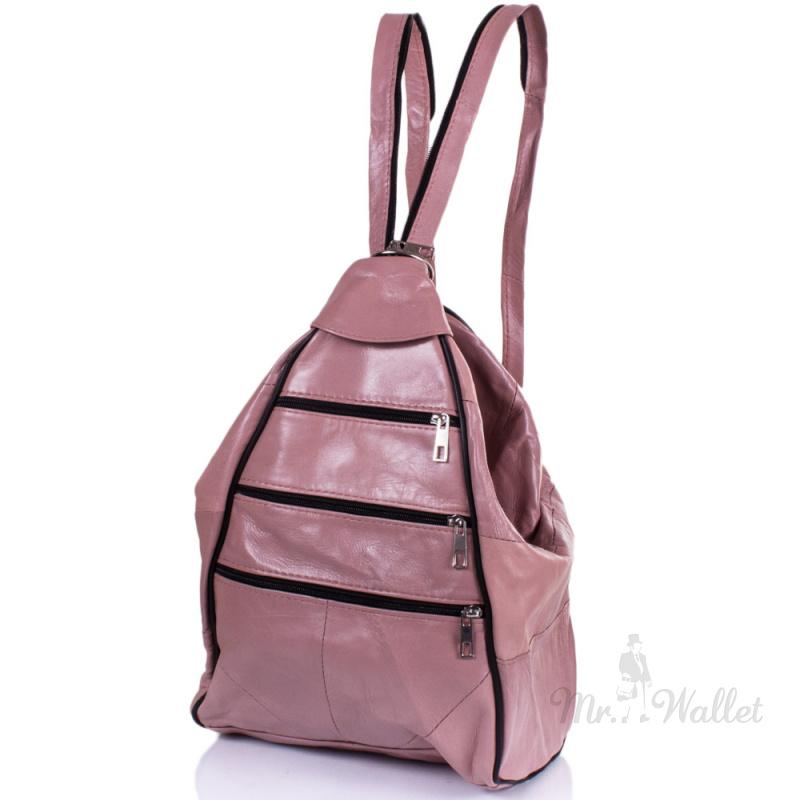 d460b127d59e ᐉ Рюкзак-трансформер Yunona 2404-13 кожаный женский цвета пыльная ...