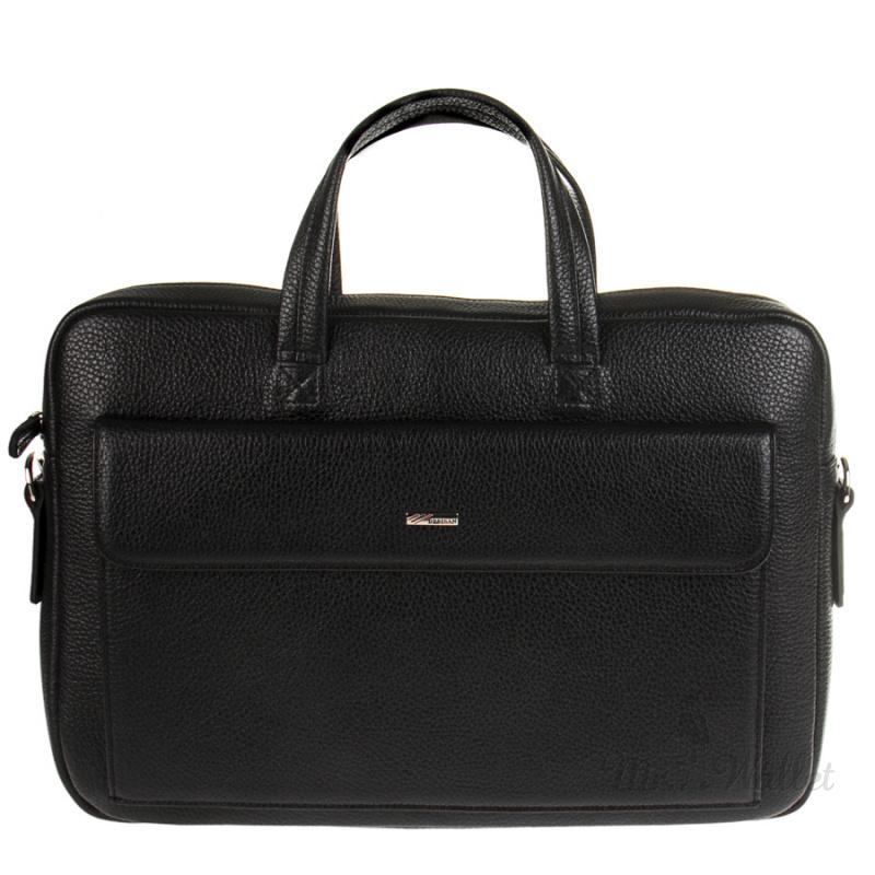 e7077948b140 Портфель Desisan 340-01 кожаный черный мужской
