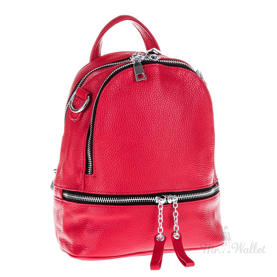 0e7afff2736f ᐉ Рюкзак Vito Torelli 8-9003-2 красный кожаный женский купить в ...